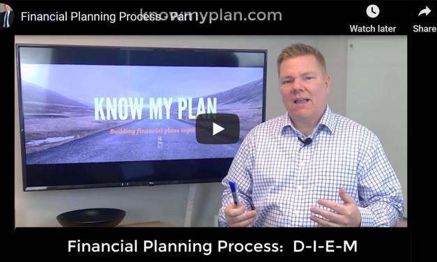 Financial Planning, Part I:  D-I-E-M